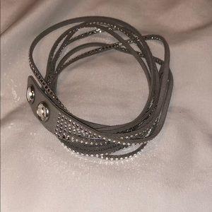 Grey Swarovski crystal bracelet